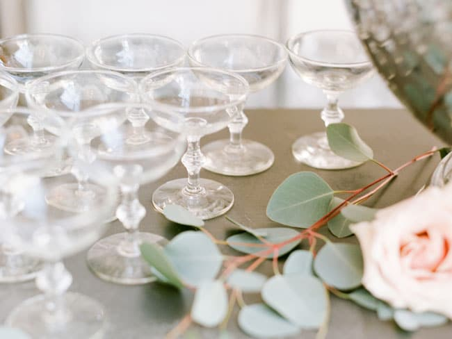 Parisian Tea Party Champagne Glasses