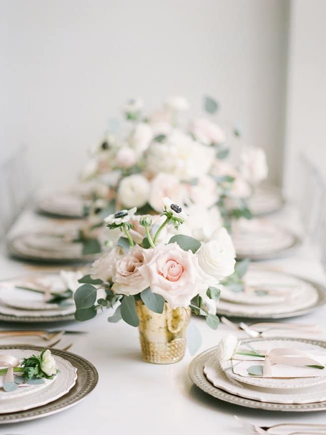 Parisian Tea Party Flower Centerpieces