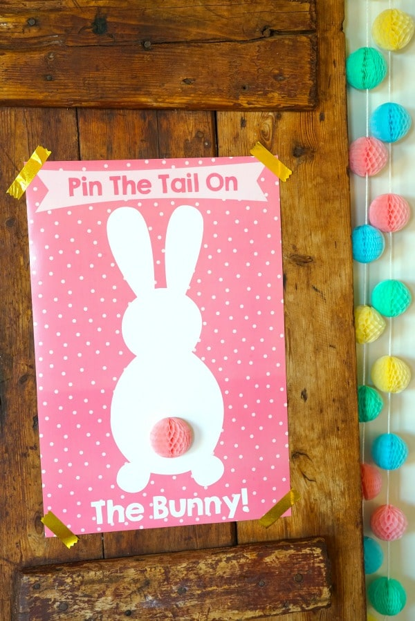 Pin The Tail On The Bunny Free Easter Printable Pretty