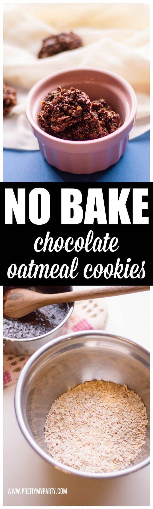 No Bake Chocolate Oatmeal Cookies - Pretty My Party