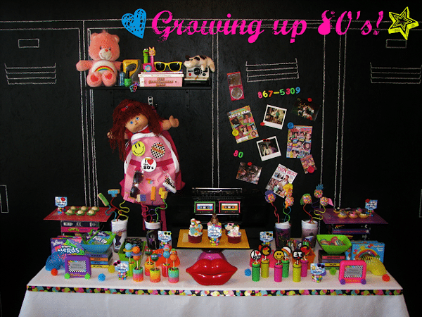 Totally 80s Party Table