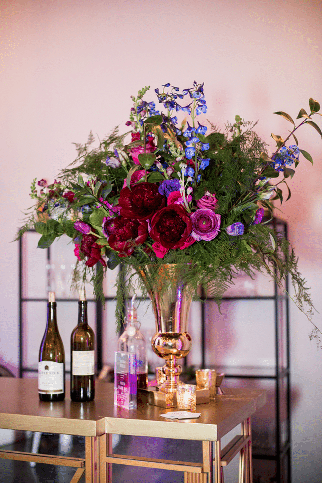 40th Birthday Party Flower Centerpieces