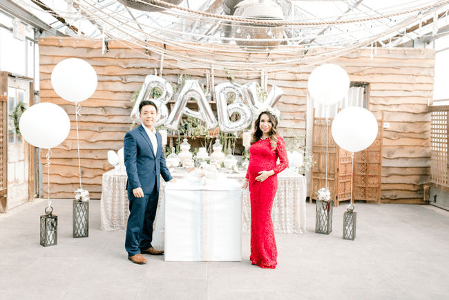 Greenhouse Baby Shower and Gender Reveal Dessert Table