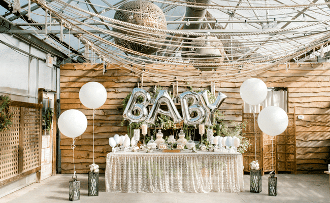 Greenhouse Baby Shower and Gender Reveal