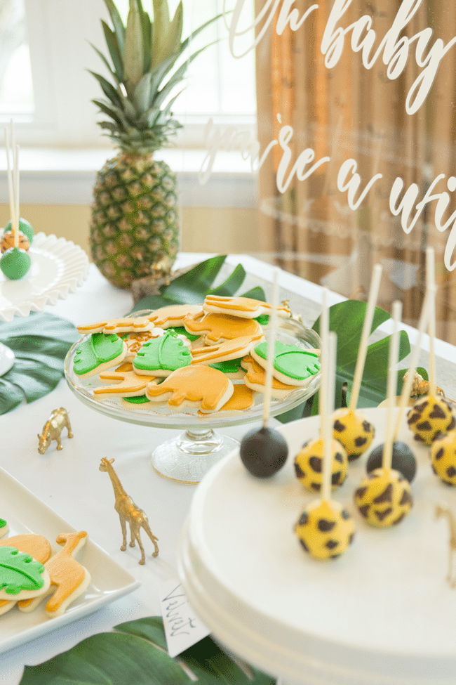 Fun Jungle Theme Baby Shower Desserts