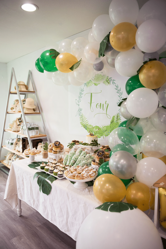 Modern Jungle Theme Party Jungle Birthday Party Pretty