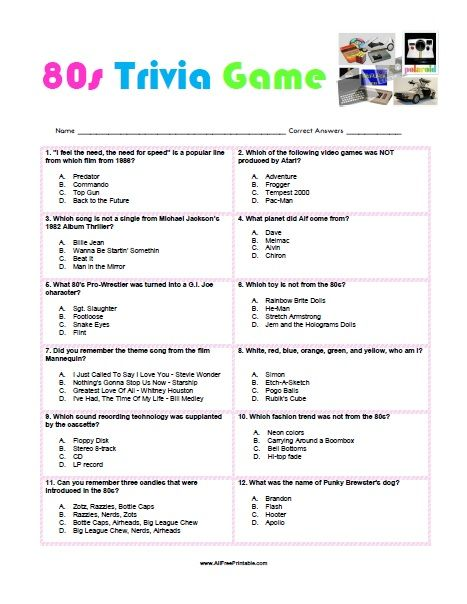 Shocking image pertaining to printable trivia games