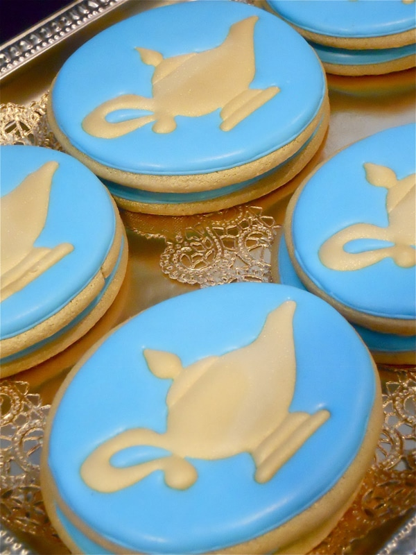 Genie Lamp Cookies - Shimmer and Shine Party Ideas