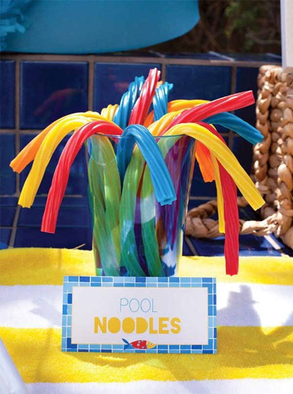 Pool Noodles Candy - Pool Party Ideas