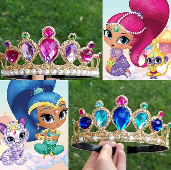 Shimmer and Shine Crowns for a Shimmer and Shine Party