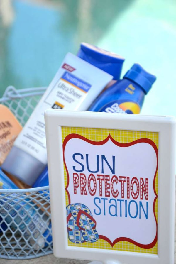 Sun Protection Station - Pool Party
