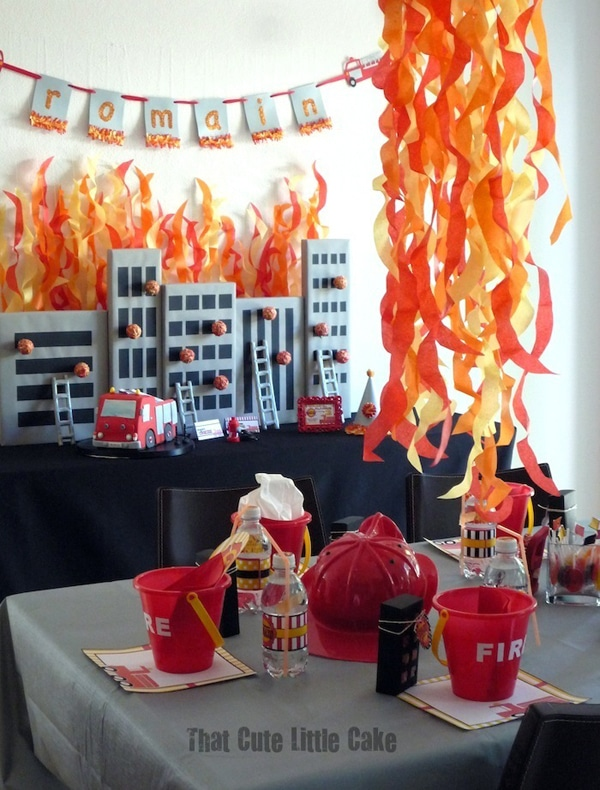Fireman Birthday Party Decorations