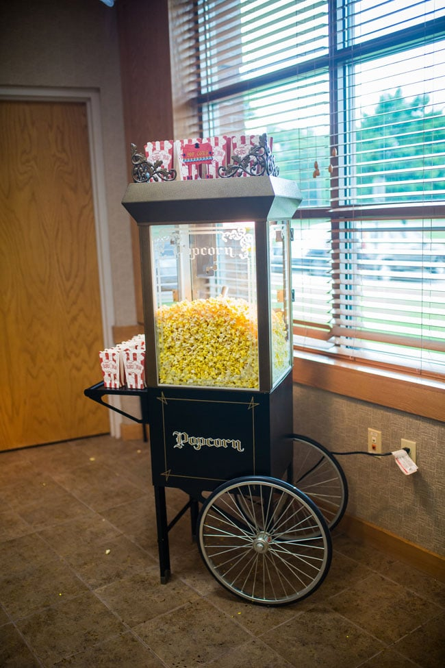 Circus Theme Party Popcorn Cart