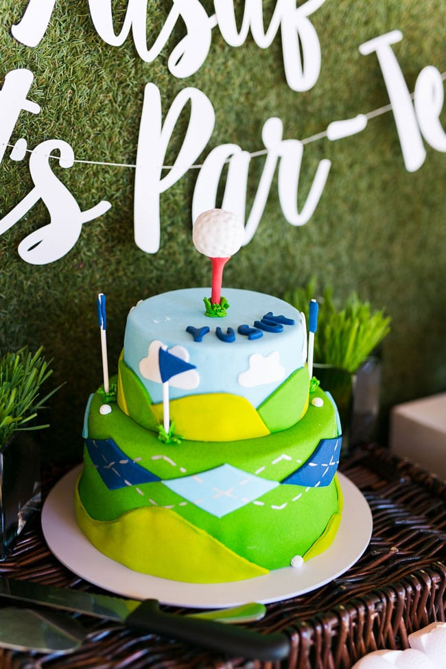 Phenomenal Golf Themed 3Rd Birthday Party Pretty My Party Funny Birthday Cards Online Aeocydamsfinfo