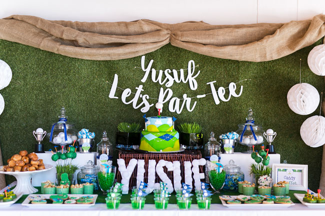 Golf Themed Party Dessert Table