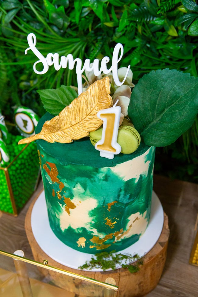 Peter Pan in Neverland First Birthday Cake