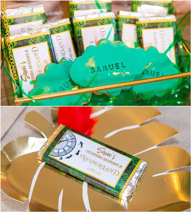 Peter Pan in Neverland First Birthday Party Chocolates