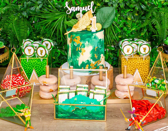 Peter Pan in Neverland First Birthday Party Desserts