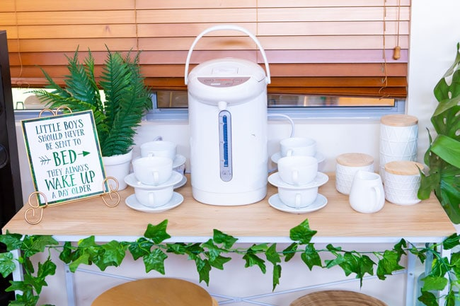 Peter Pan in Neverland First Birthday Party Coffee Station For Parents
