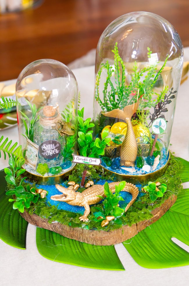 Peter Pan in Neverland First Birthday Party Centerpieces