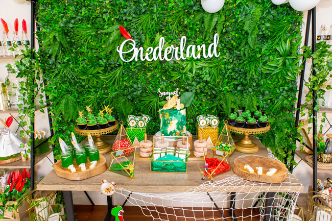 Peter Pan in Neverland First Birthday Party Dessert Table - Pretty My Party