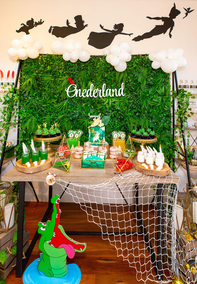 Peter Pan in Neverland First Birthday Party Dessert Table