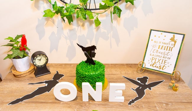 Peter Pan in Neverland First Birthday Smash Cake