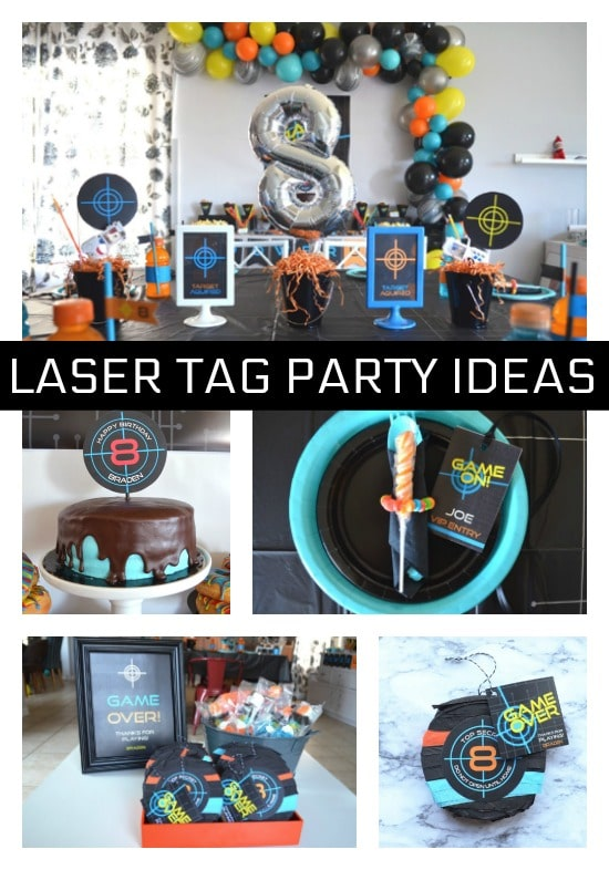 Fantastic Laser Tag Themed Birthday Party - Pretty My Party