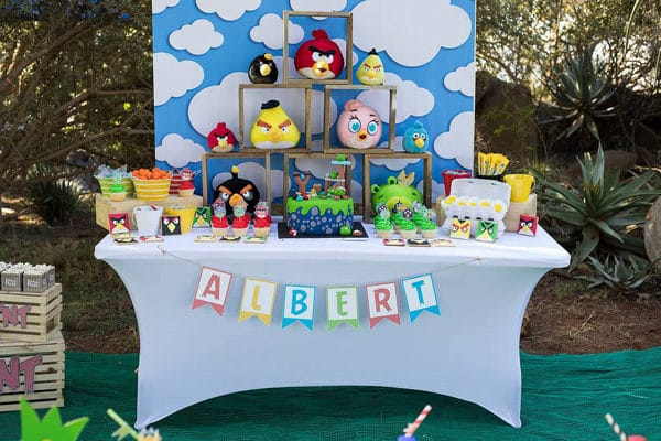 Colorful Angry Birds Birthday Party