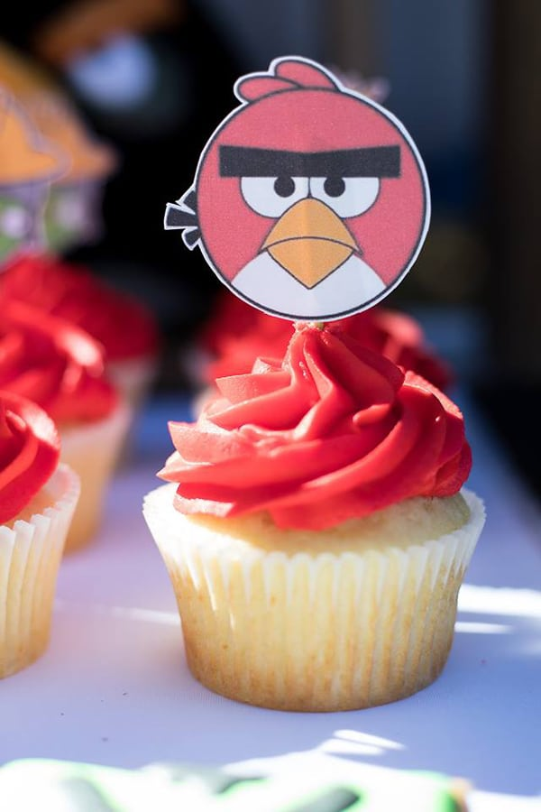 Angry Birds Birthday Party Cupcake Toppers