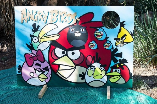 Angry Birds Birthday Party Photo Cut Out