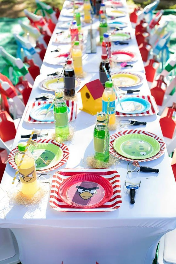 Angry Birds Birthday Party Table