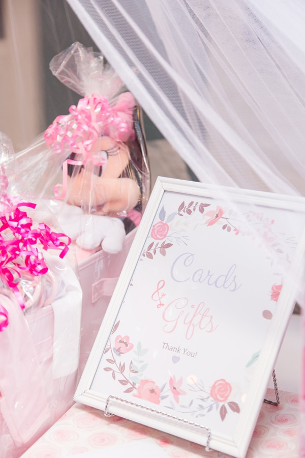 Cards and Gift Sign For Baby Shower