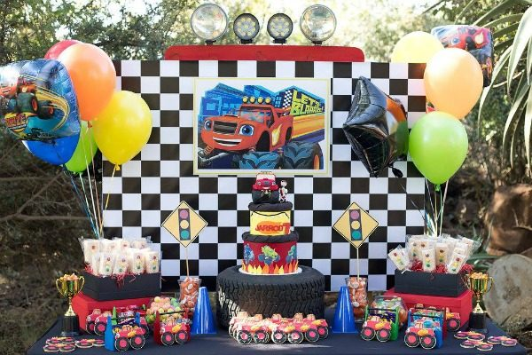 Pretty my party a party planning blog cool blaze and the monster machines party junglespirit Images