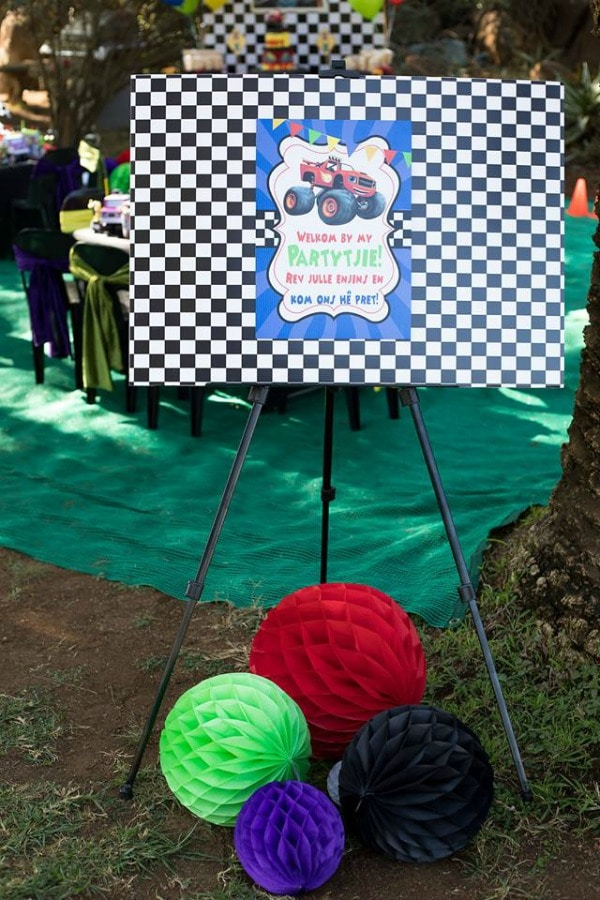 Blaze and the Monster Machines Birthday Party Welcome Sign