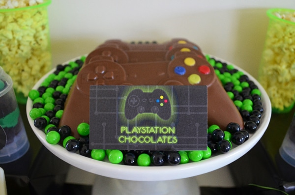 Gamer Birthday Party Playstation Chocolates