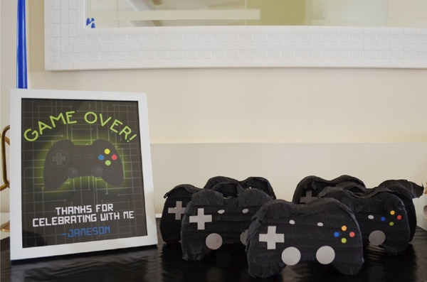 Gamer Birthday Party Favors
