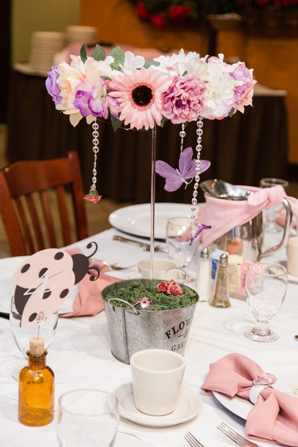 Garden Baby Shower Floral Centerpieces