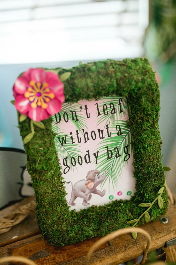 Jungle Book Birthday Party Favors Sign