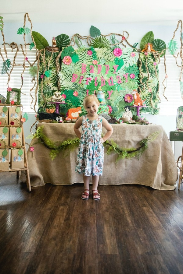 Jungle Book Themed Birthday Party Dessert Table