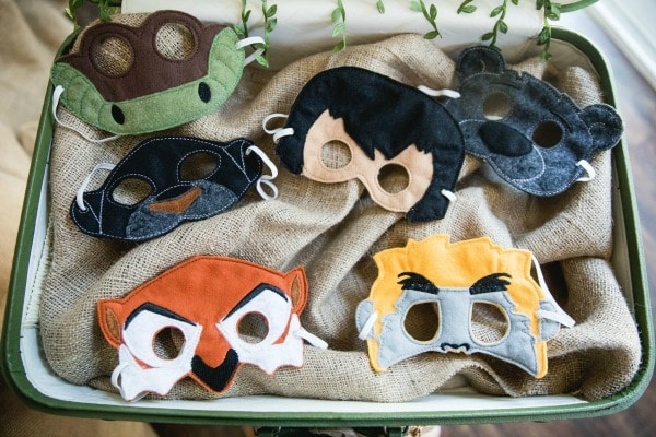 Jungle Book Birthday Masks