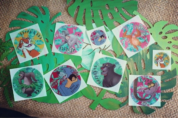 Jungle Book Birthday Party Stickers