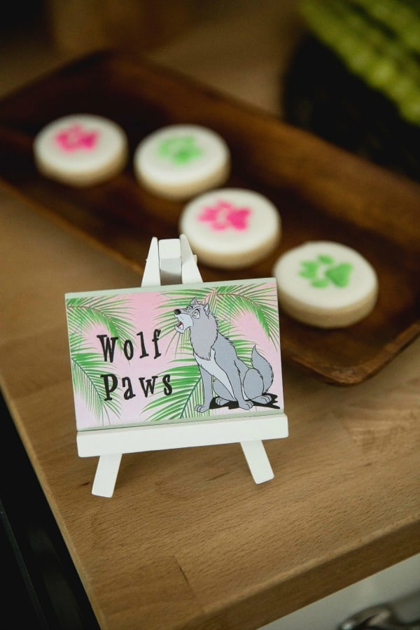 Jungle Book Party Wolf Paw Cookies