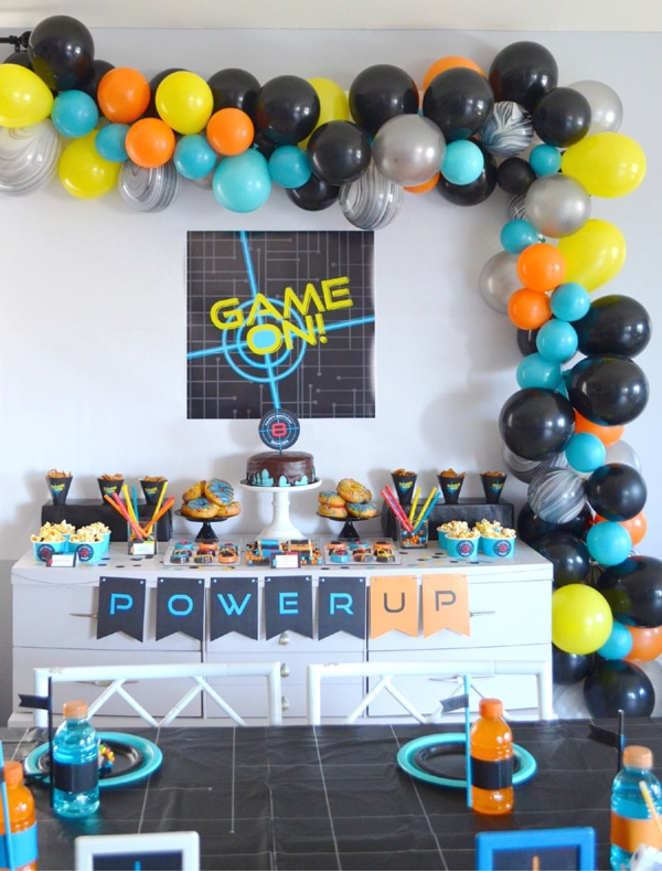 Laser Tag Party Dessert Table