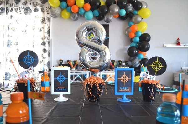 Laser Tag Themed Party Table
