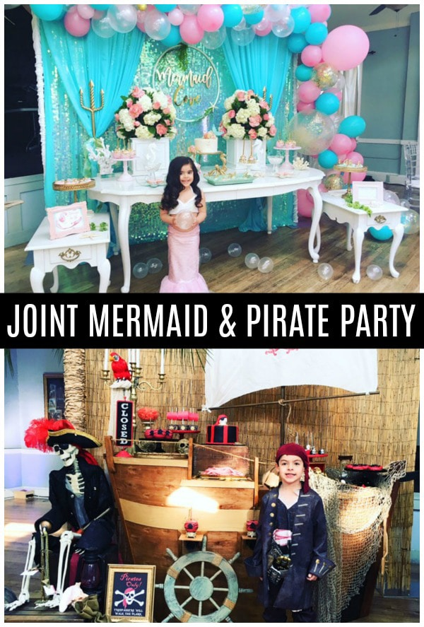 Joint Mermaid and Pirate Party For Siblings - Pretty My Party