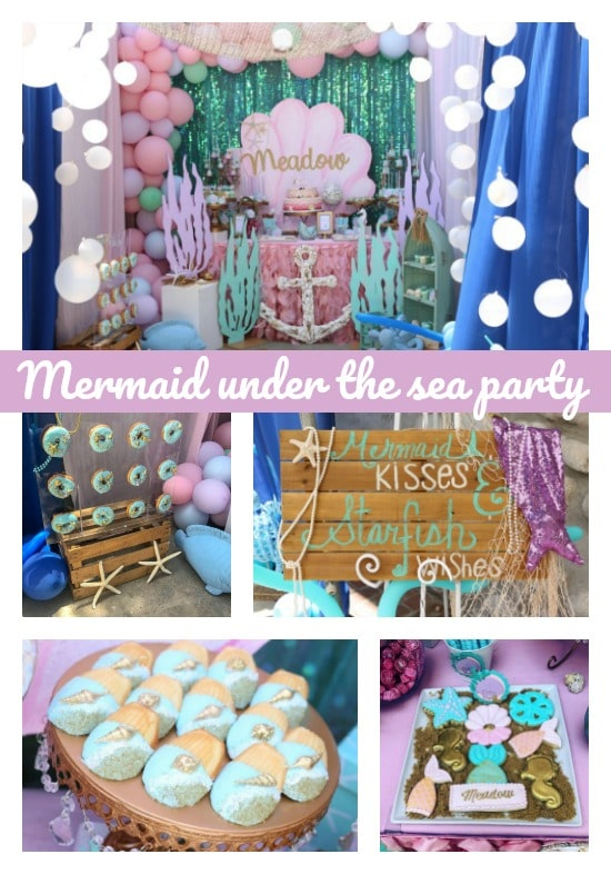 Mermaid Under The Sea Birthday Party - Pretty My Party