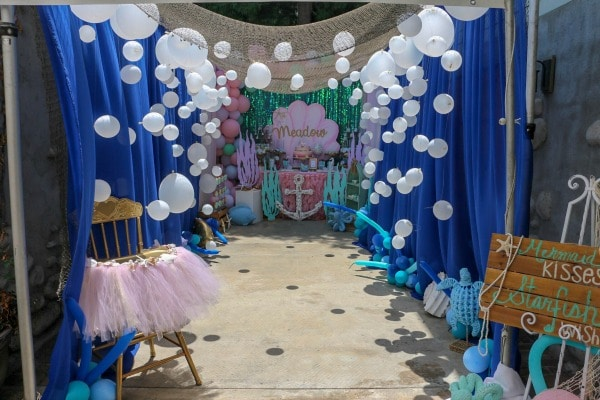 Mermaid Under the Sea Birthday Party Ideas