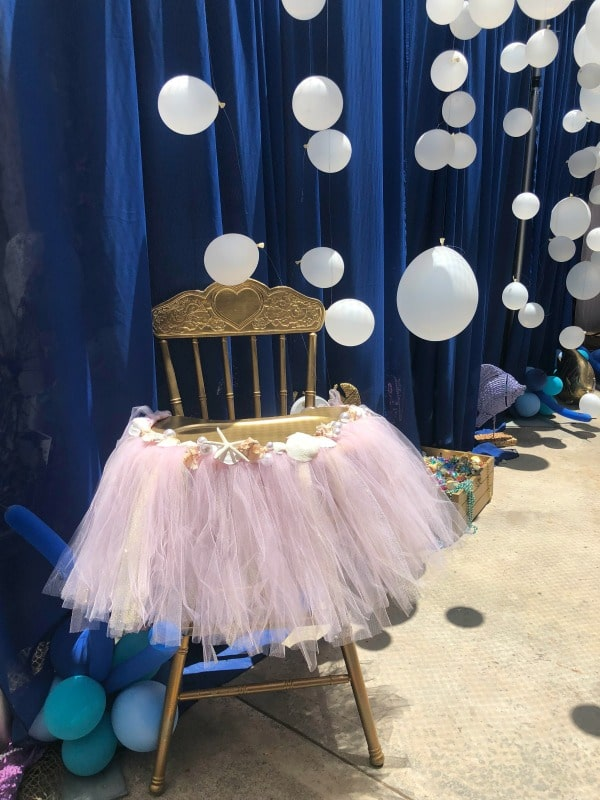 Mermaid Birthday Party High Chair Decoration