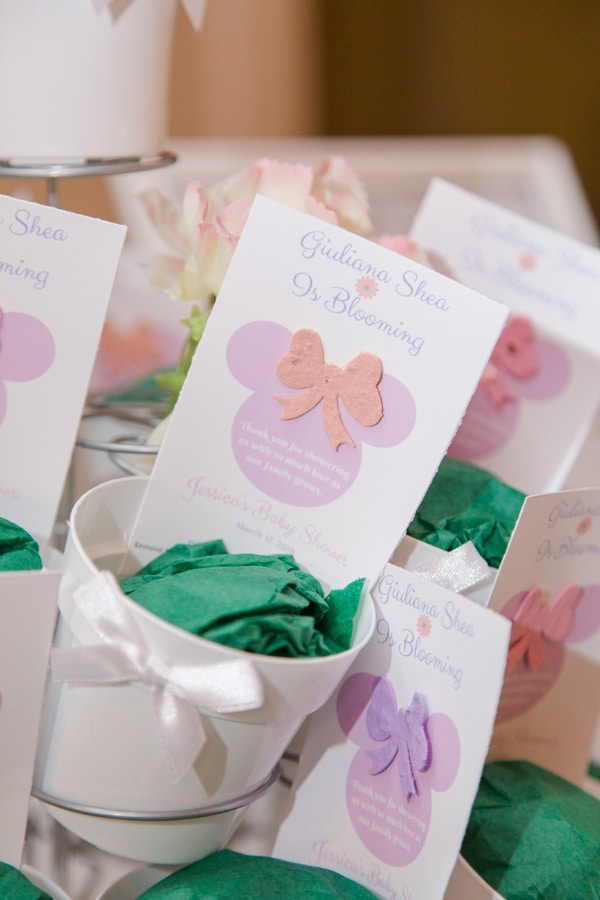 Minnie Mouse Garden Themed Baby Shower Favors